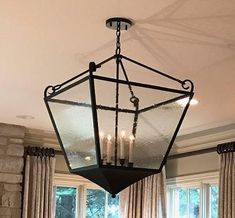 A bit of extra detail goes a long way in the design of the Lorena. A beautiful choice to finish the room. Custom Lighting, Home Lighting, Tower Light, Antique Silver, Black And Brown, Lanterns, Chandelier, Ships, Bronze