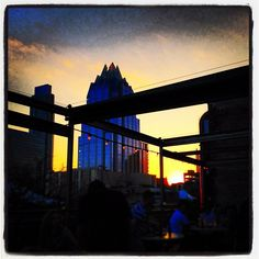 Best #sunset rooftop #restaurant view in #Austin, TX. (Photo from when I ate here.)