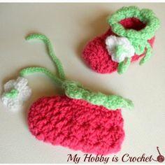 Blooming Berry Baby Booties   AllFreeCrochet.com