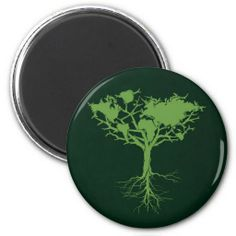 Earth tree Magnet