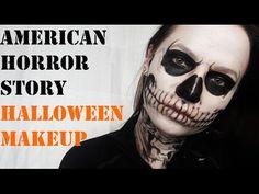 American horror story, Tate Langdon skull Halloween makeup tutorial - YouTube