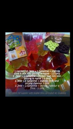 Slimming world low syn jelly sweets Slimming World Haribo, Slimming World Sweets, Slimming World Puddings, Slimming World Syn Values, Slimming World Tips, Slimming World Recipes, Sliming World, Healthy Eating Tips, Healthy Nutrition