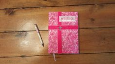 Pink Breast Cancer Survivor. Fabric covered Journal Diary Notebook or log. floral fabric, shabby chic, cottage chic by CloudBerryTrails on Etsy