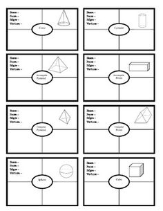 3D Polyhedrons Frayer Notes - I can make this and save the dollar :)