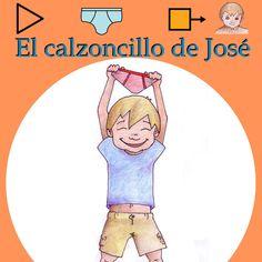 """""""El calzoncillo de José"""" - Cuento adaptado a pictogramas para ayudar a los niños con dificultades de aprendizaje a ir solos al baño. Este cuento se ha realizado de forma casera y no forma parte del proyecto """"Aprendices Visuales"""". http://aprendicesvisuales.blogspot.com.es/2009/08/el-calzoncillo-de-jose_7187.html"""
