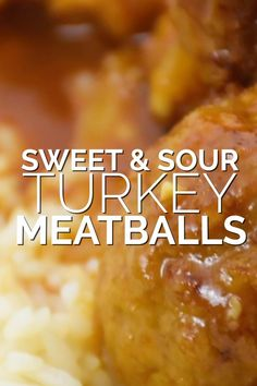 Today I'm going to show you how you can make some tasty sweet and sour turkey meatballs. Most people think turkey is dry - but these meatballs are incredibly tender and juicy. In its ground form, turkey holds on to a ton of moisture, making it the ideal meat to use for meatballs. #turkey #meatballs #recipe #sweetandsour #dinner Chef Recipes, Turkey Recipes, Asian Recipes, Cooking Recipes, Healthy Recipes, Sweet And Sour Meatballs, How To Cook Meatballs, Turkey Meatballs, Roast Beef Roll Ups