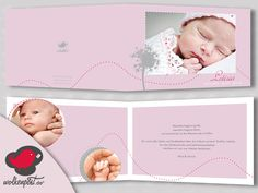 individuell Foto Geburtskarte Klappkarte Babykarte von Wolkenpost-de auf DaWanda.com