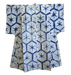 A Beautiful Itajime #Yukata: Indigo Dyed Cotton $375.00 USD #kimono