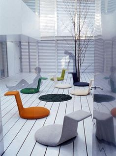 Legless chair http://www.designrulz.com/product-design/chair-product-design/2010/10/legless-chair/