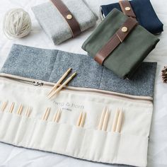 short KA interchangeable knitting needle set - Quince and Co