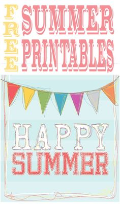 diy home sweet home: Free Printables to Brighten Up Your Summer.
