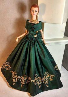 Deep Emerald Jewel fits FR2 Fashion Royalty and Silkstone Barbie