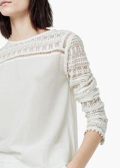 Guipure cotton blouse