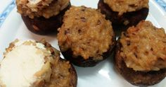 Fabulosa receta para Champiñones portobello rellenos de arroz.