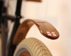 Wooden Bike Fender by Wood's Fenders