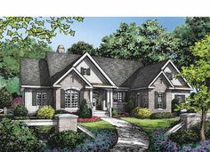 Ranch House Plan with 2388 Square Feet and 4 Bedrooms(s) from Dream Home Source   House Plan Code DHSW75290