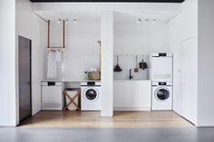 One space, two laundry rooms