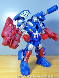 """You gotta love a good exoskeleton - yes, this is technically not Armor, this is a Powered Exoskeleton. While both Armor and an Exoskeleton may protect the wearer, enhance their natural abilities and increase mobility and firepower, an Exoskeleton has a more """"vehiclular"""" feel to it than simply armor and has more akin to the APUs of the Matrix Movie, the Exosquad E-Frames, the G.I. Joe Steel Marauder, and the Avatar AMP Suit.    #IronPatriot #Toy"""