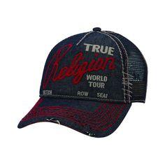True Religion Jeans Men s Unisex Logo Trucker Hat Cap 6b27a29c5e3