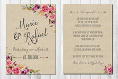 Einladungskarten - WILD LOVE KRAFT 30x Einladungskarten Hochzeit - ein Designerstück von wildchildwedding bei DaWanda