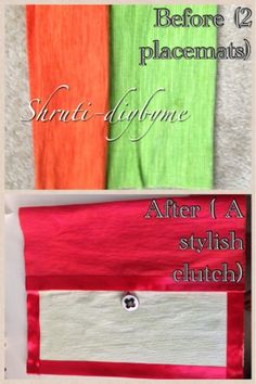 DIY's (Do It Yourself) : Placemat clutch (No sew)