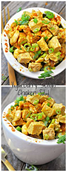 Vegan Curry Seitan Chicken Salad