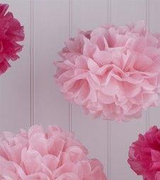 """Pom Pom Set """"Vintage Lace"""" - rosa/pink - 5-teilig"""