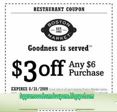 Boston Market Coupons Ends of Coupon Promo Codes MAY 2020 ! If you want a home cooked meal without effort, visit the Boston Market. Mcdonalds Coupons, Kfc Coupons, Home Depot Coupons, Pizza Coupons, Store Coupons, Grocery Coupons, Online Coupons, Print Coupons, Discount Coupons
