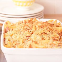 Leftover chicken bakes with two cheeses, pasta, and Italian seasoning into a hearty casserole they'll love! http://www.bhg.com/christmas/recipes/ideas-for-christmas-leftovers/?socsrc=bhgpin120414chickenmacandcheese&page=8