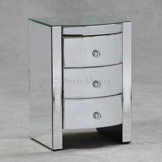 Steffan Venetian Mirror 3 Drawer Side Table