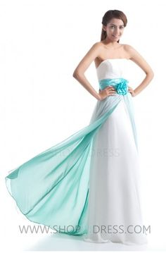 white and green dress #party #girl #fashion #prom #dresses