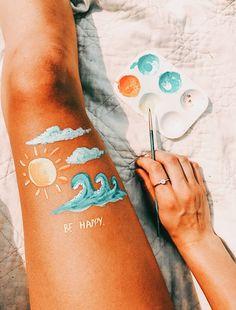 See more of ellabustinn's content on VSCO. Aesthetic Painting, Aesthetic Art, Summer Aesthetic, Image Summer, Leg Painting, Fun Sleepover Ideas, Skin Paint, Posca Art, Tumblr Stickers