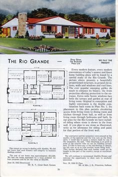 Mad For Mid Century: Authentic Mid Century Ranch Exterior Colors. Ranch  ExteriorVintage House PlansExterior ...