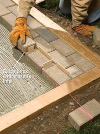 Mortared Brick Patio