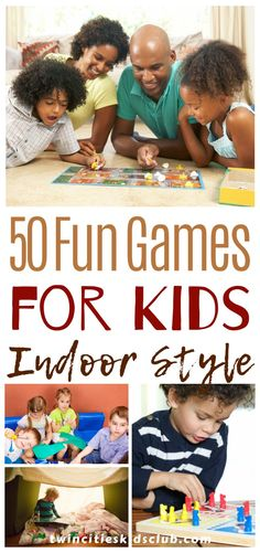 Twin Cities Kids Club Blogs: 50 Fun Games for Kids- Indoor Style - If you've come across this article hoping to find some games to play with kids actively instead of one that requires WiFi, you're in luck. Here are 50 different fun games for kids that you can play to keep them happy and active while staying indoors. | Indoor Fun | Kids Fun | Kids Game | Family Fun | Indoor Games Kids And Parenting, Parenting Hacks, Winter Breaks, Games To Play With Kids, Cool Kids, Kids Fun, Some Games, Indoor Games, Twin Cities