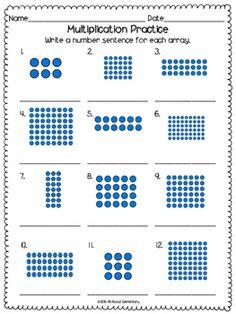 27 Multiplication Arrays Worksheets Multiplication Array Worksheets The kids can enjoy Number Worksheets, Math Worksheets, Alphabet Worksheets, Colo. Array Worksheets, Printable Math Worksheets, Number Worksheets, Alphabet Worksheets, Maths 3e, Math Multiplication Worksheets, Array Math, Math Intervention, Second Grade Math