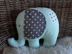 Vankúš ... slon / Nikoletatelier - SAShE.sk Ottoman, Pillows, Chair, Furniture, Home Decor, Bed Pillows, Homemade Home Decor, Cushion, Home Furnishings
