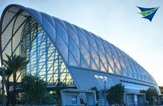 ETFE roof systems are too cool. Fabric architecture is booming!