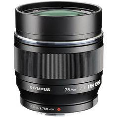 Olympus M.Zuiko 75mm f/1.8 Telephoto Prime Lens Black - Prime lense for portraits, studio and stage photography $899 - also comes in silver for vintage look - ROBIN WONG TIP: Use a camera grip with this lense to balance the weight