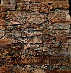 Copper like wood patina finished