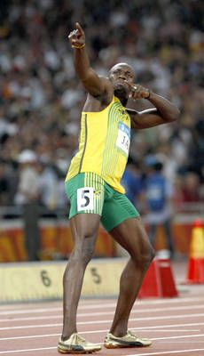 """Usain Bolt's 9.69 seconds at the 2008 games in Beijing, """"record to beat."""""""