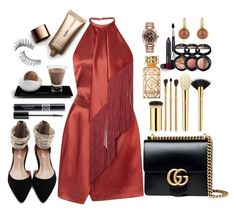 """Untitled #652"" by lo2lo2a ❤ liked on Polyvore featuring J. Mendel, Tory Burch, Gucci, tarte, Christian Dior, Laura Geller, Rolex, Mia & Beverly, Trish McEvoy and Nude by Nature"