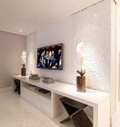 Ideas living room tv wall apartment tv consoles for 2019 Living Room Tv, Living Room Modern, Living Room Interior, Living Room Designs, Wall Design, House Design, Tv Wall Decor, Muebles Living, Home Furniture