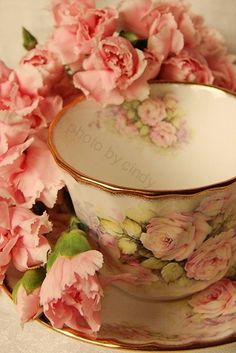 <3  I love this sweet set.....love the pale peach FLOWERS IN SAUCER ......INTERIOR DETAILS OF SAUCER ARE EXPOSED