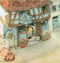 eve Tharlet illustrator - Google Search Z Book, Book Art, Happy Art, Illustration Art, Book Illustrations, Picture Wall, Cool Drawings, Childrens Books, Art For Kids