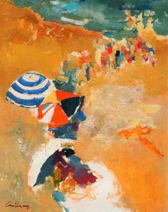 """Playa en Mar del Plata"" Juan Carlos Castagnino #arte #art #painting"