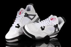 11c5836164dceb Hot Nike Air Jordan 4 Retro Fish Skin Sale White Mens Shoes Online