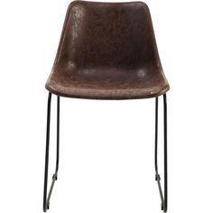 Stuhl: Schlichtes Design - große Wirkung Dieser stylische Stuhl besticht mit seiner puren, reduzierten Gestaltung und der leichten Retro-Note. Die ausgeformte Sitzschale wird getragen von einem filigranen Gestell aus schwarzem Stahl....