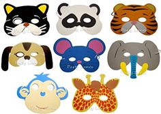 From 6.09:20 x Children's Foam Animal Masks