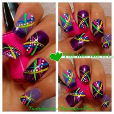 Image via Colorful Nail Art Designs Image via Amazing Rainbow Nail Art Designs Image via Alternative to traditional wedding nails. Sunflower theme Image via Cute and Easy Neon Nail Art, Colorful Nail Art, Neon Nails, Easy Nail Art, Diy Nails, Fingernail Designs, Toe Nail Designs, Uñas Color Neon, Nail Art For Beginners